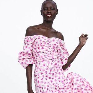 Zara Pink Floral Crop Top